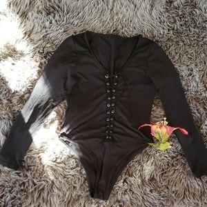 Other - Black stretchy long sleeve Bodysuit